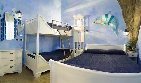Camere A Tema Disney : Hotel per famiglie a riccione: accoglienti camere a tema per bambini